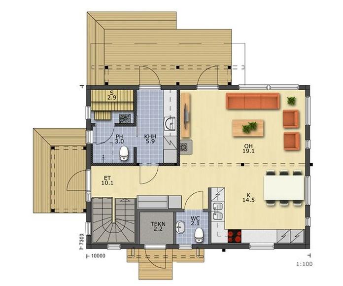 Casas de madera Tamaimo: CATALOGOS DE CASAS Y TERRENOS de Fundo y Madelar