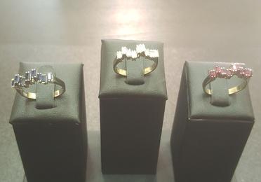 Juego 3 anillos oro blanco
