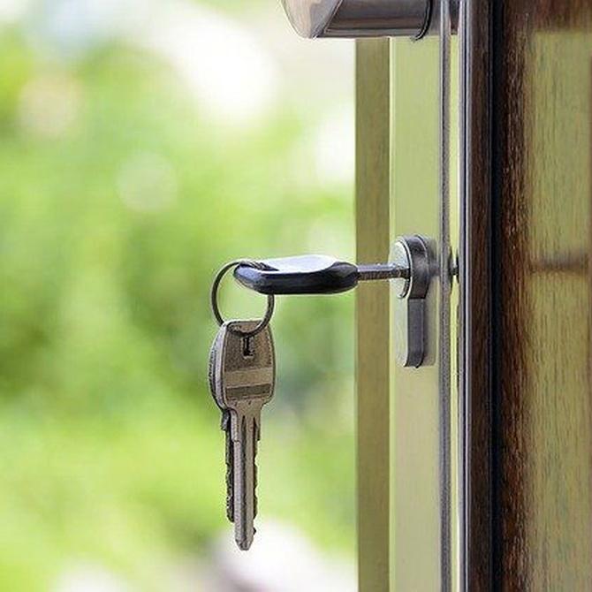 La carpintería metálica en puertas y entradas