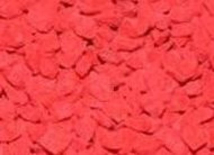 Triturado pigmentado en color naranja