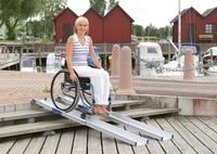 Rampa telescópica de aluminio para sillas de ruedas
