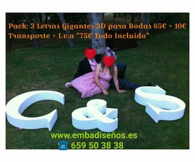 Iniciales para bodas en el centro de Barcelona