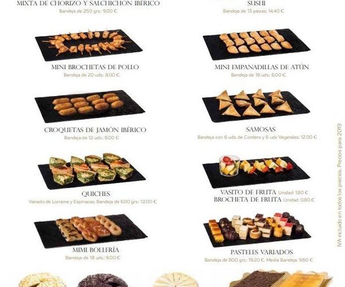 Catalogo Completo 2019: Catalogo Productos y Servicios de Catering Sándwiches Olmedo