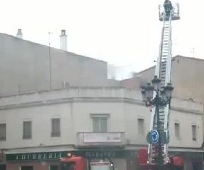 Aparatoso Incendio Churreria Cibeles en Alcalá de Henares