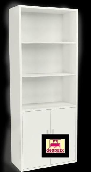 armario DE OFICINA  madera alto con puertas bajas color blanco