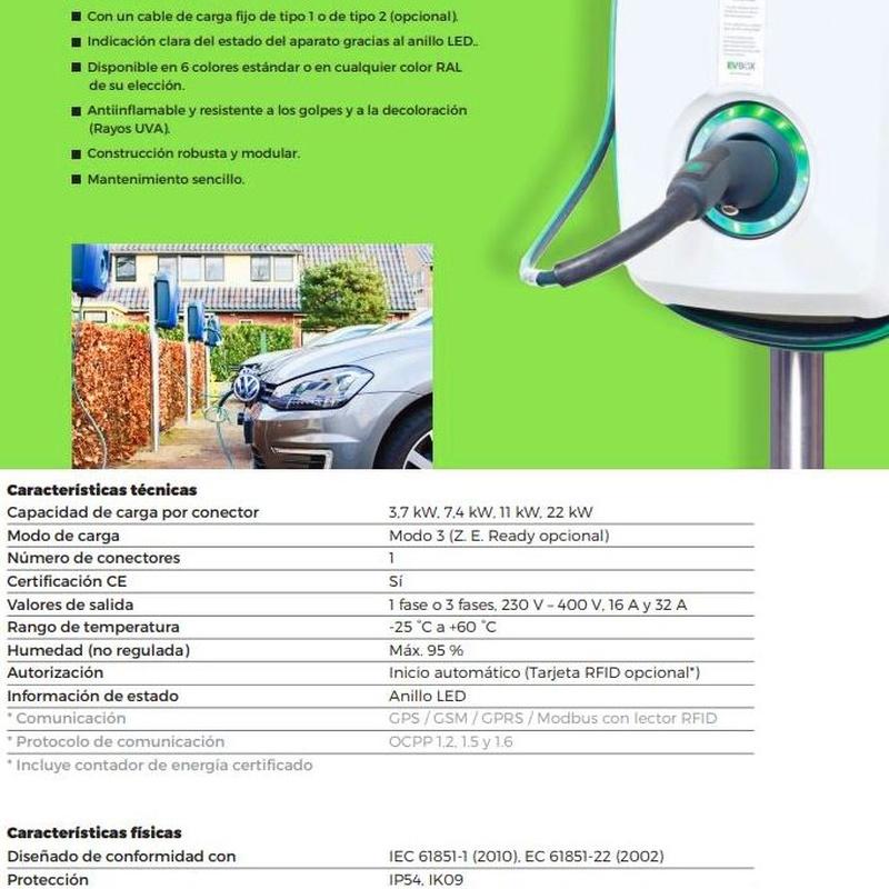Punto de carga para coche eléctrico: Servicios de Velca Electricidad