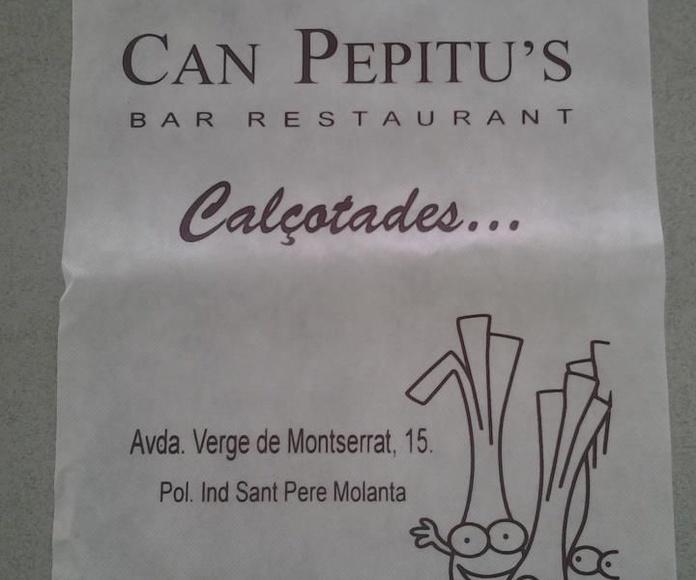 Menús: Especialidades de Can Pepitu's