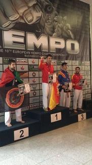 Ángel Ruiz campeón de Europa de Kenpo