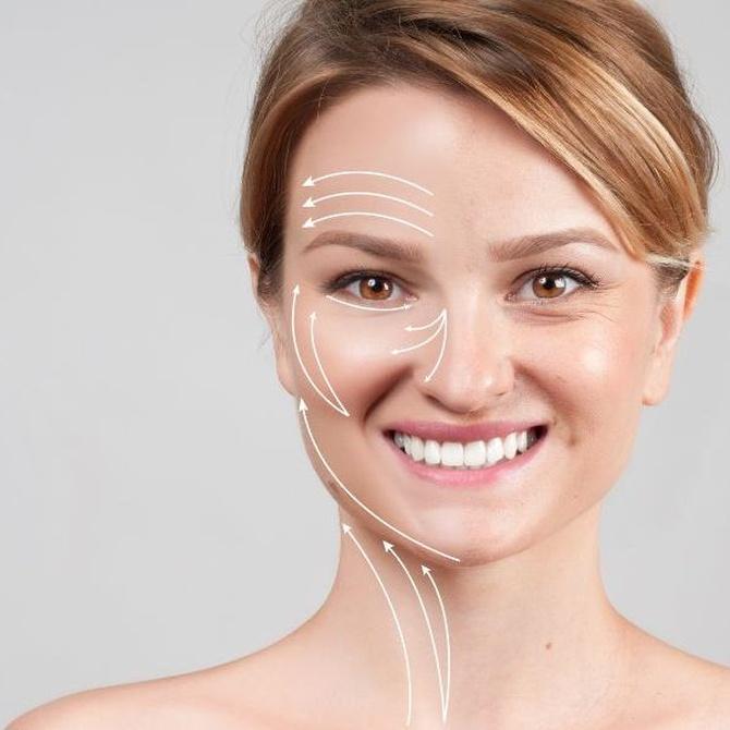 Diferentes zonas faciales para tratamiento con ácido hialurónico