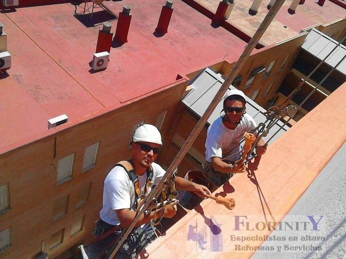 Impermeabilización de cubiertas: Servicios de Trabajos Verticales Florinity