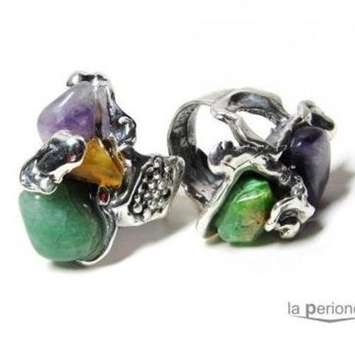 Diseños exclusivos en plata y piedras naturales realizadas artesalmente
