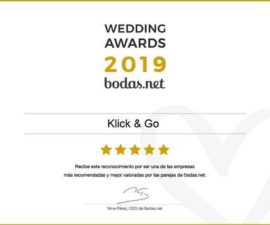 Un año más contamos con el galardón, Wedding Awards 2019