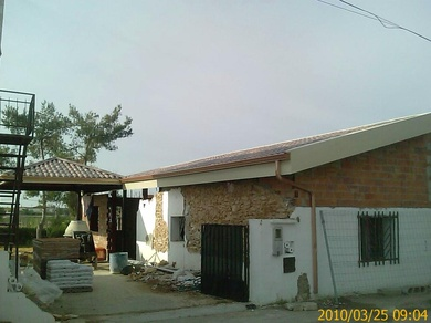 techado rustico con panel