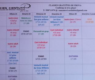 classes gratuïtes setembre