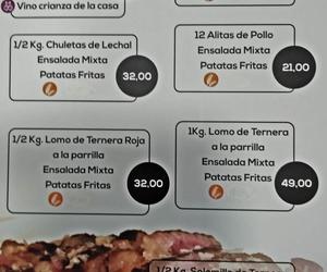 Menús La Bodega