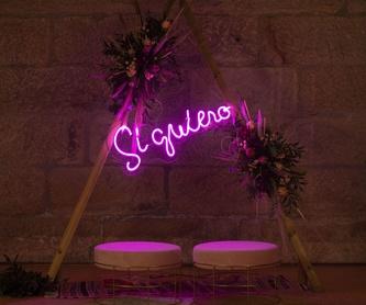 CORAZÓN luminoso con bombillas: Decoración de eventos de DeMadera Chic