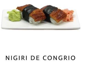 Nigiri de congrio en Málaga