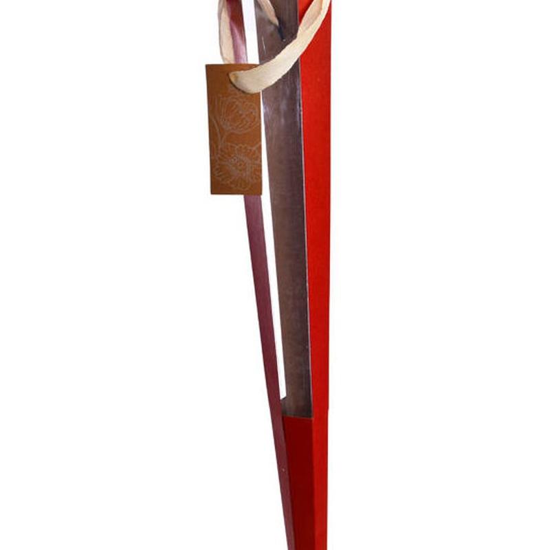 Cucurucho de cartulina+acetato (62,5 cm.) COLOR: Rojo REF.:81043 RE. PRECIO: 1,30 €