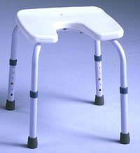 taburete de baño samba con asiento en U