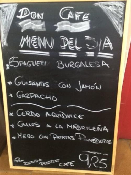 Restaurante Don Café en Carabanchel