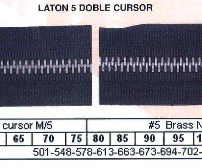 Cremallera SNS Latón NFR Doble Cursor M-5