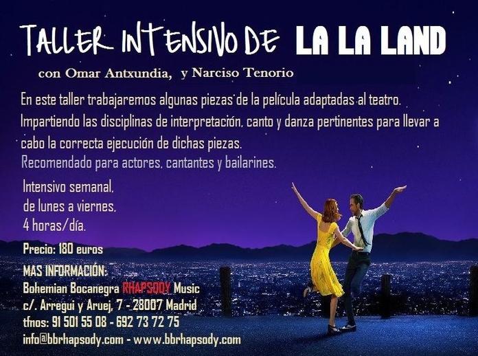 """TALLER INTENSIVO SEMANAL DE """"LA LA LAND"""""""