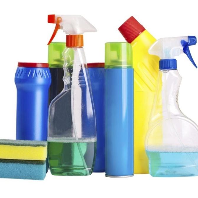 Utiliza con cuidado los productos de limpieza