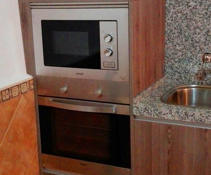 Amueblamiento de cocina en un garaje.