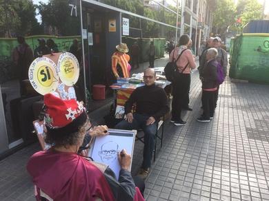 Animando paradas especiales interesantes por S. Jordi, Barcelona