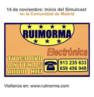 Mes y medio para el SIMULCAST y con Ruimorma reparación de antenas en Plaza de Castilla