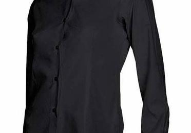 Camisa entallada manga larga mujer