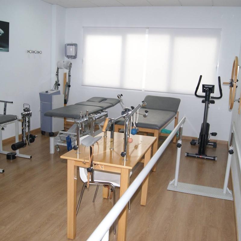 Sala de rehabilitación y electroterapia