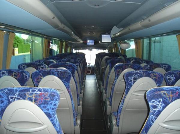 Autocares Chaos, S.A. - Interior de un autocar