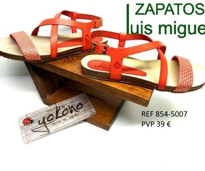 sandalia cruzada plantilla yokono: Catalogo de productos de Zapatos Luis Miguel
