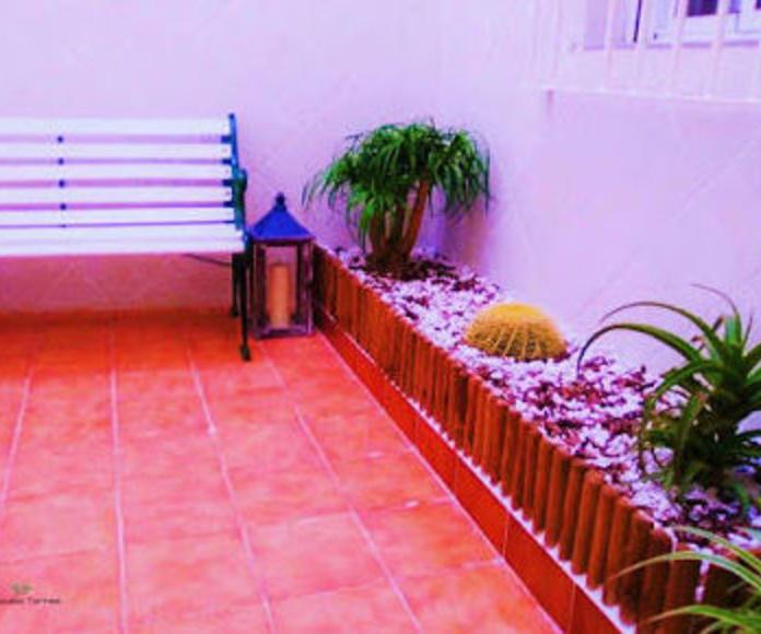 Restaurauración mobiliario y reforma patio interior