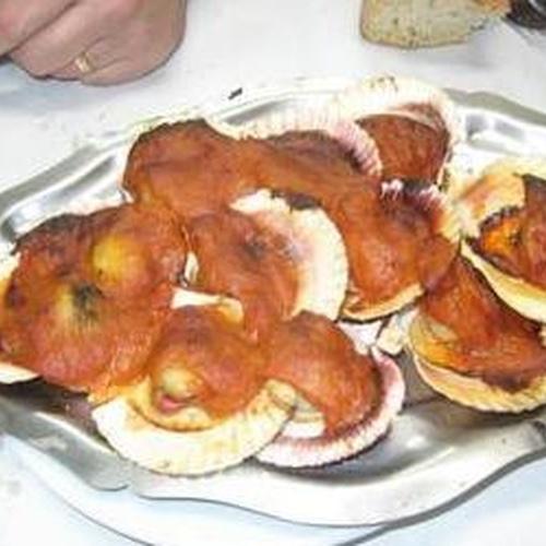 Zamburiñas en salsa al horno
