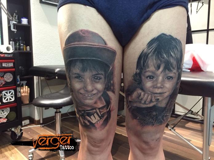 Tatuajes de Retrato: Tatuajes de Verger Tattoo