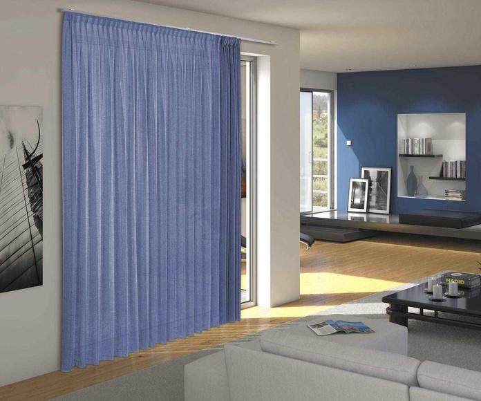 cortina con riel