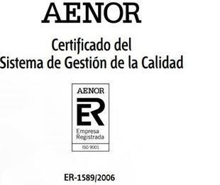 Certificado del Sistema de Gestión de la Calidad
