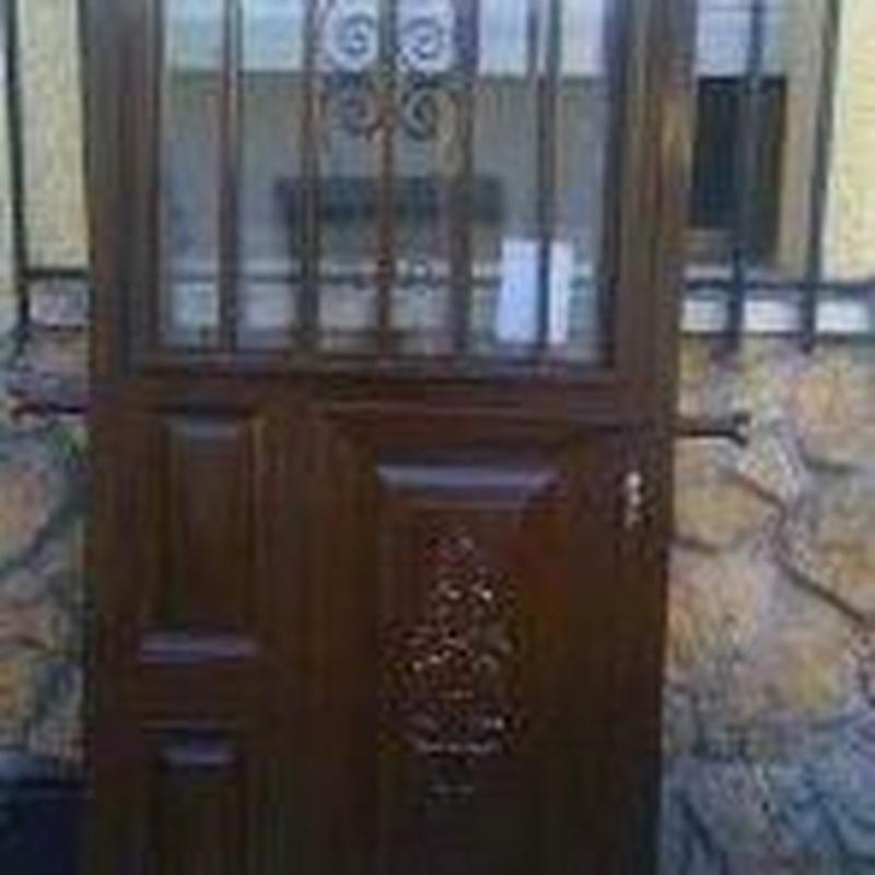 Puerta residencial.