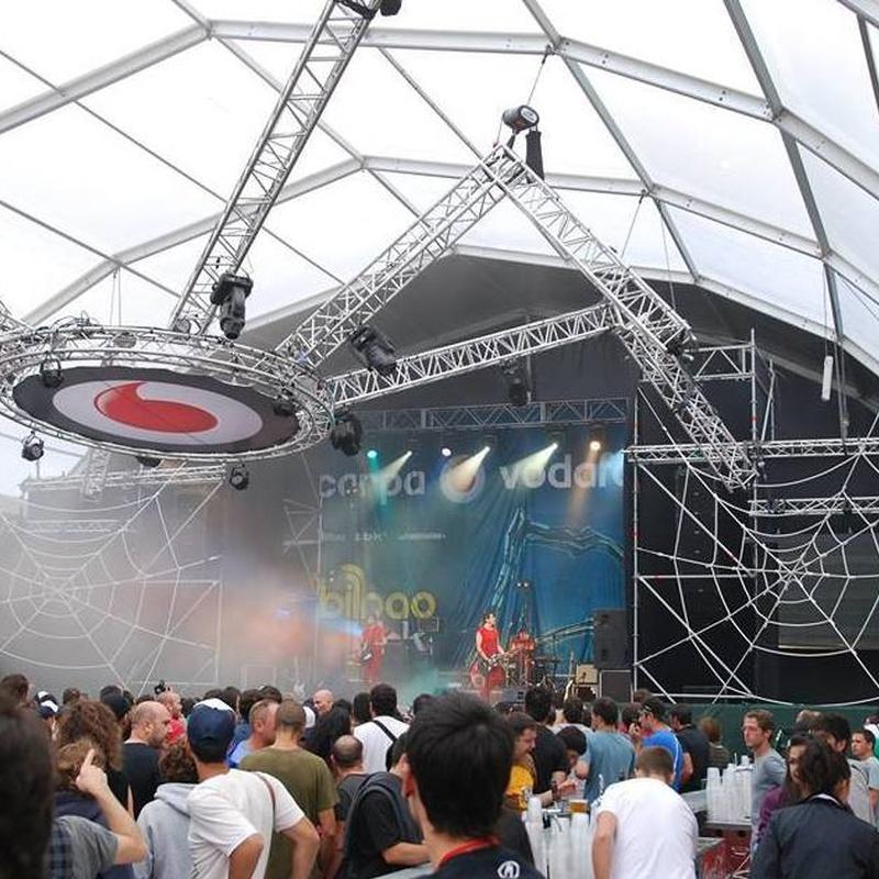 Carpas para espectáculos y festivales