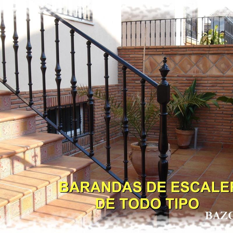 Baranda de escalera para exteriores
