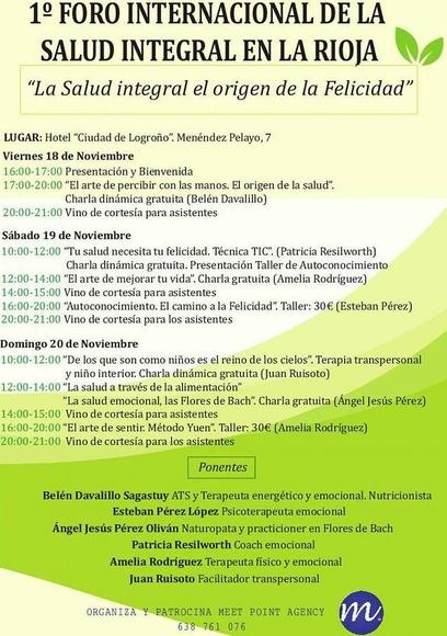 Próxima Conferencia y Taller Logroño Noviembre 2016