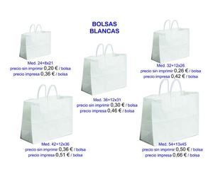 Bolsas blancas modelo Mar