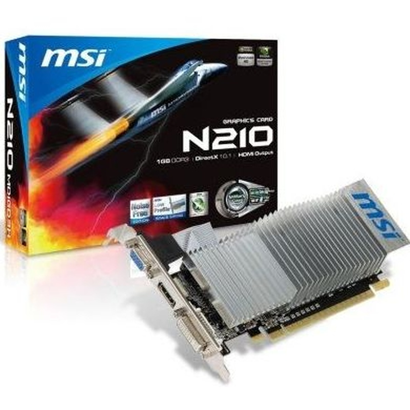 MSI VGA NVIDIA N210-MD1GD3H/LP 1GB DDR3 : Productos y Servicios de Stylepc