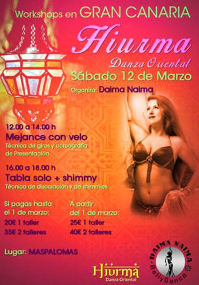 Workshops en Gran Canaria Sábado 12 de marzo