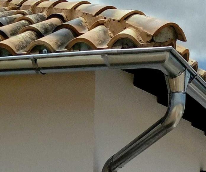 Instalación de canalones en altura