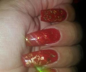uñas acrilicas decoradas con pan de oro