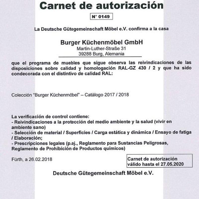 Carnet Autorización Burger