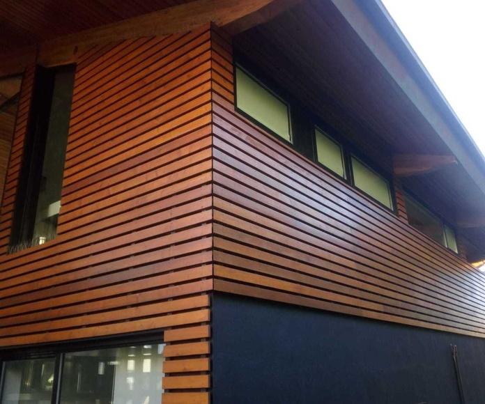 Limpieza de fachadas de madera en Bilbao